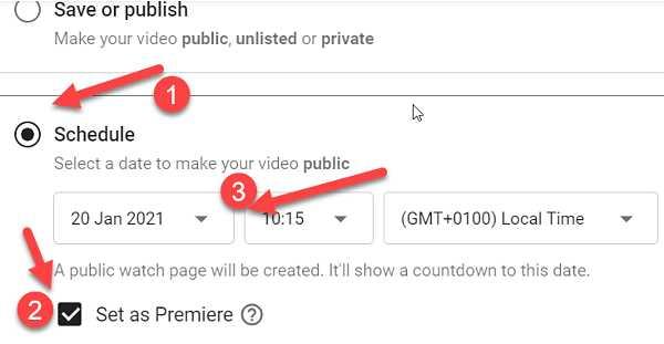 YouTube Премиера