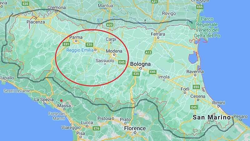 Карта на Емилия Романя