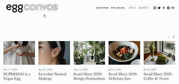 Egg canvas - уебсайтове за мода, грим и стил на живот
