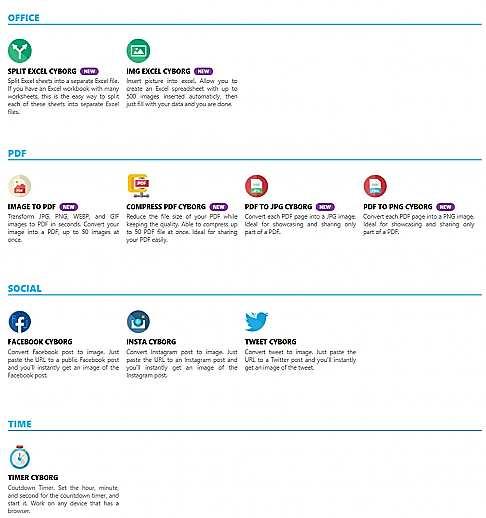 Офис, PDF, Социални медии с Cyborg