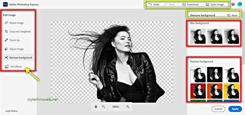 Опции за обработка на фона на изображение