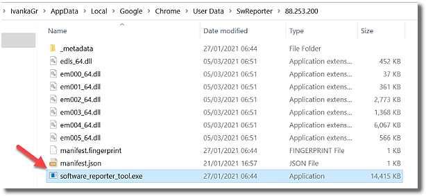 Chrome Software Reporter Tool е самостоятелен процес на Google Chrome-