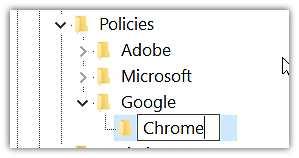 Нов ключ Chrome