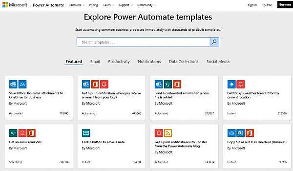 Microsoft Flow - подобен на IFTTT