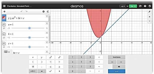 Desmos - онлайн графичен калкулатор