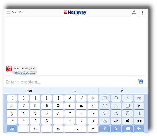 Mathway за решаване на математически задачи