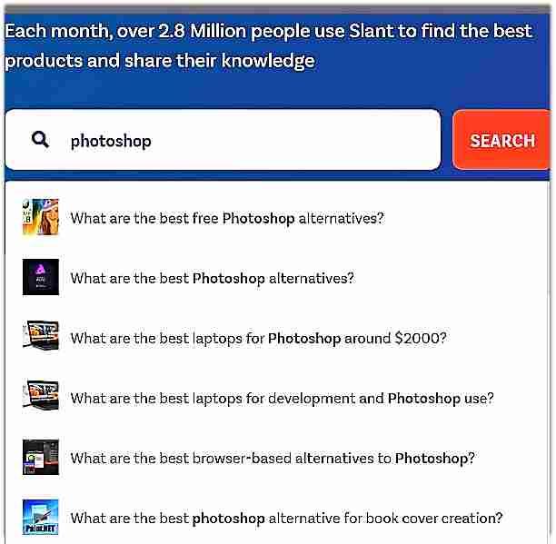 Slant - алтернатива на AlternativeTo