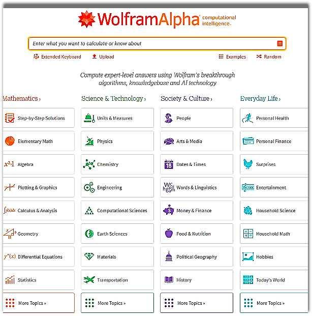 Wolframalpha - експертна търсачка