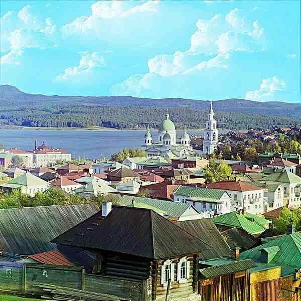 Изглед към град Златоуст. Есен 1909. Фотограф Прокудин-Горски
