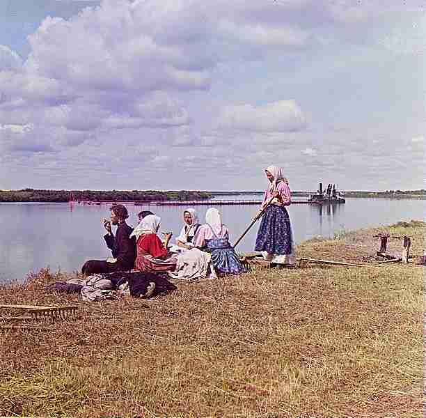 Прокудин-Горски. Обяд на косене 1909
