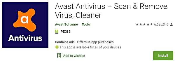 Avast Antivirus - Scan & Remove Virus, Cleaner