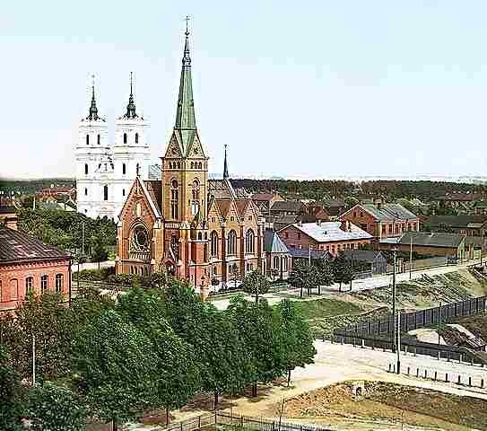 Двинск (Даугавпилс) (квартал Новое строение),1912.Прокудин-Горски