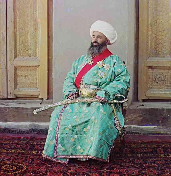 Куш-Беги, министър на вътрешните работи, Бухара, Узбекистан-Прокудин-Горски
