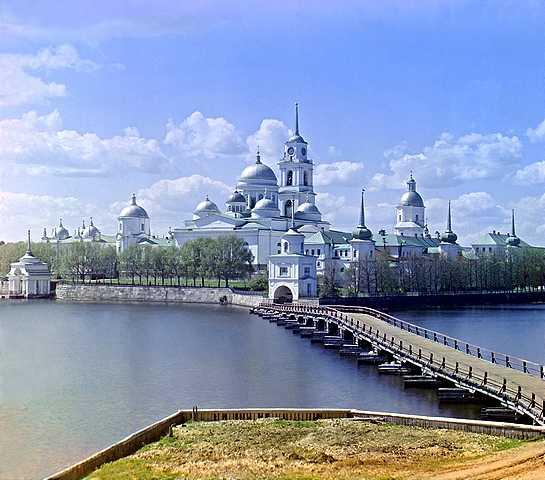 Прокудин-Горски-Манастирът Св. Нил на остров Столобни в езерото Селигер в Тверска област - история на фотографията