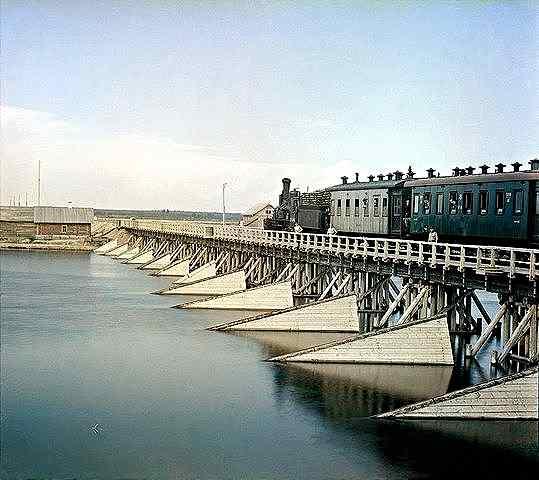Прокудин-Горски – железопътен мост през река Шуя, Карелия